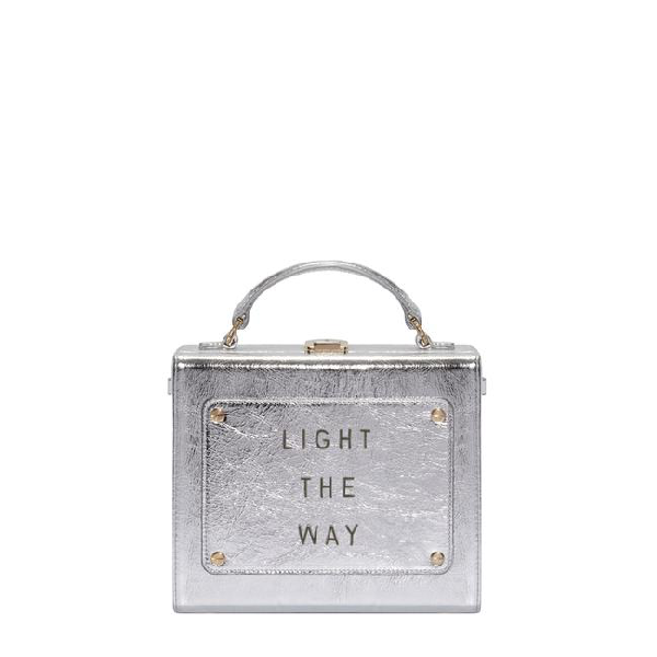 "Meli Melo Art Bag ""light The Way"" Olivia Steele Silver Bag For Women"