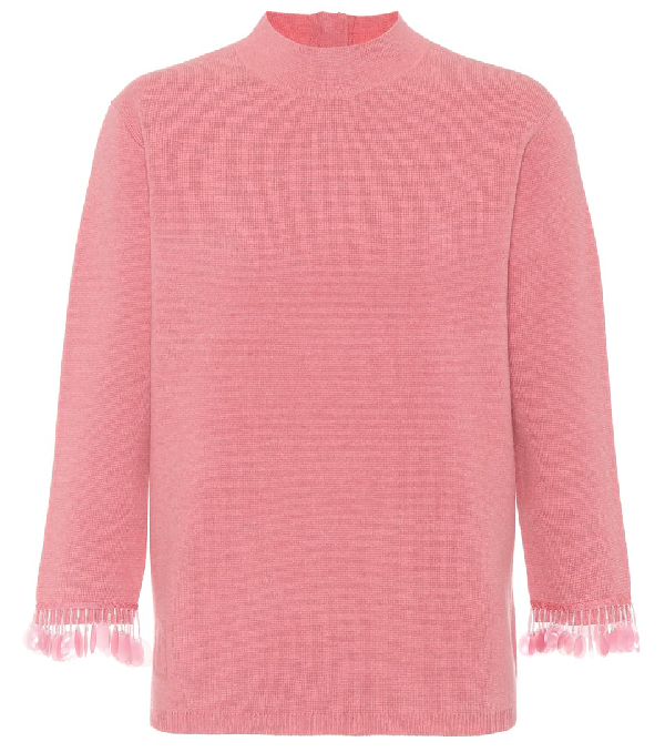 Marc Jacobs Wool And Cashmere Sweater In Pink