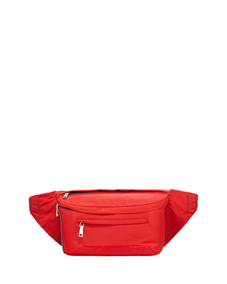 4f93eeb3d676 Prada Solid Nylon Belt Bag In Red