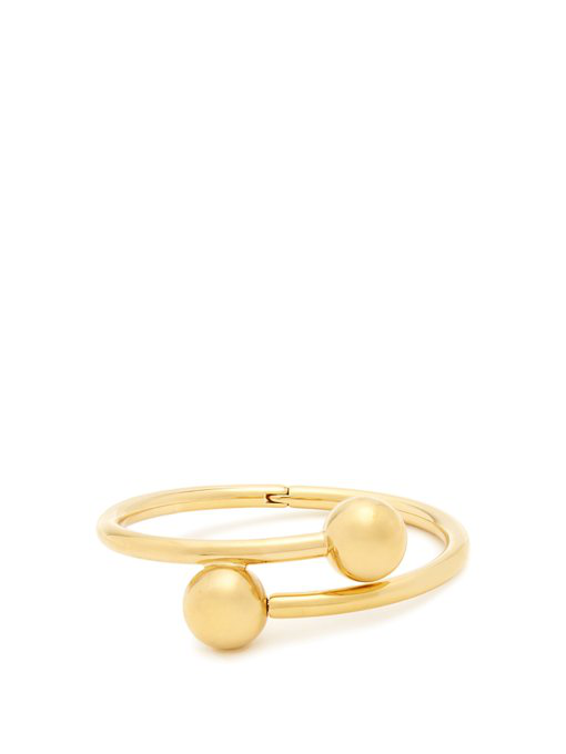 Jw Anderson Double-Sphere Gold-Plated Bangle