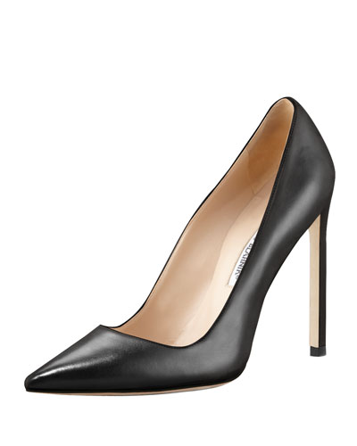 Manolo Blahnik Bb Leather 115Mm Pump In Klack