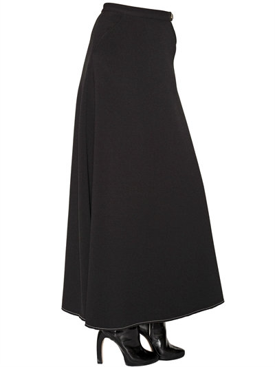 Ellery Morocco Crepe Skirt In Black
