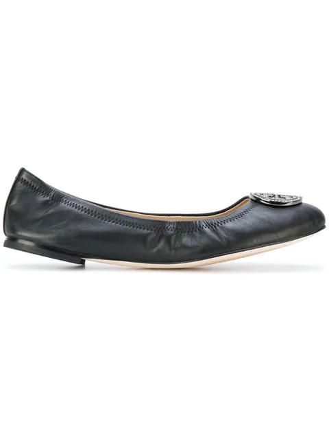 eec652a77 Tory Burch Liana Ballet Flats - Black