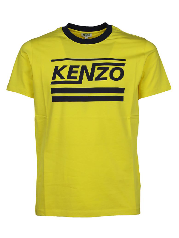 Kenzo Printed Short Sleeves T-shirt In Yellow & Orange