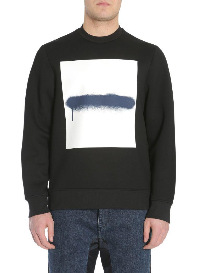 Diesel Black Gold Sneilb-Sqarespray Sweatshirt In Nero