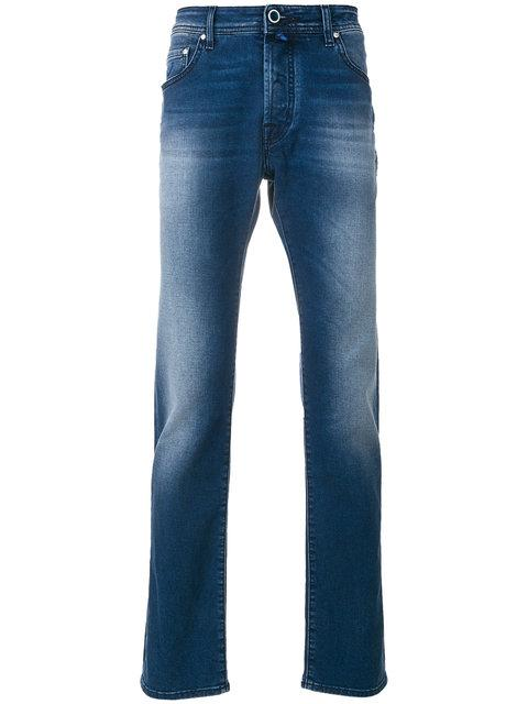 Jacob Cohen Light-Wash Fitted Jeans - Blue