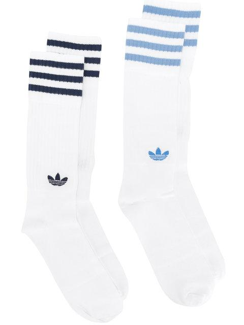 Adidas Originals Adidas Socken-Set Mit Logo - Weiß In White