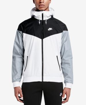 Nike Men's Sportswear Windrunner Full-zip Jacket, White In White/black