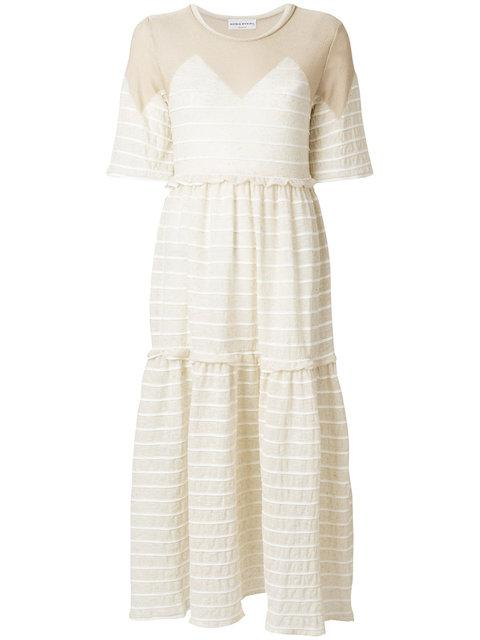 471a9b45872 Beige cotton and linen blend Pleated voile maxi dress from Sonia Rykiel.