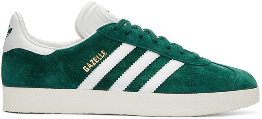 Popular adidas Originals Gazelle Mens Shoes Dark Green