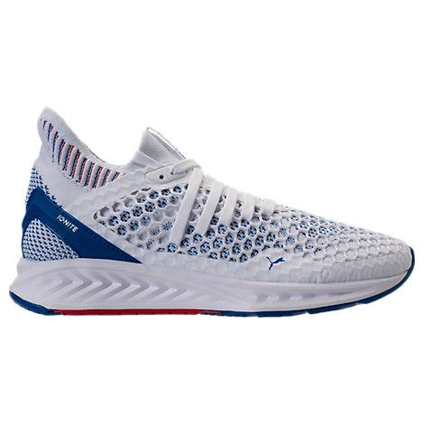 Puma Men's Ignite Netfit Running Sneakers From Finish Line In White