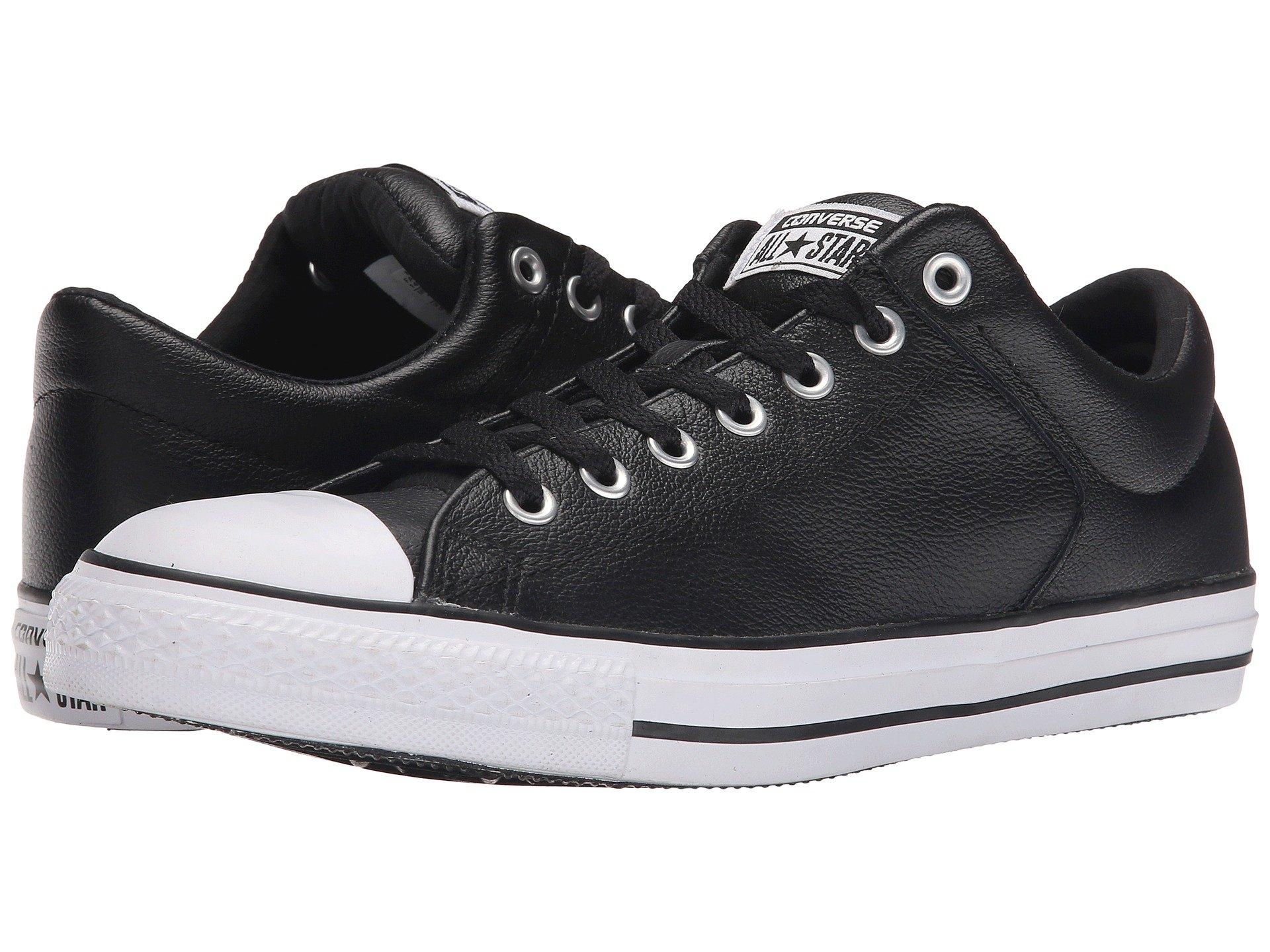 e091b052a570 Converse Chuck Taylor® All Star® Hi Street Ox Leather In Black Black ...