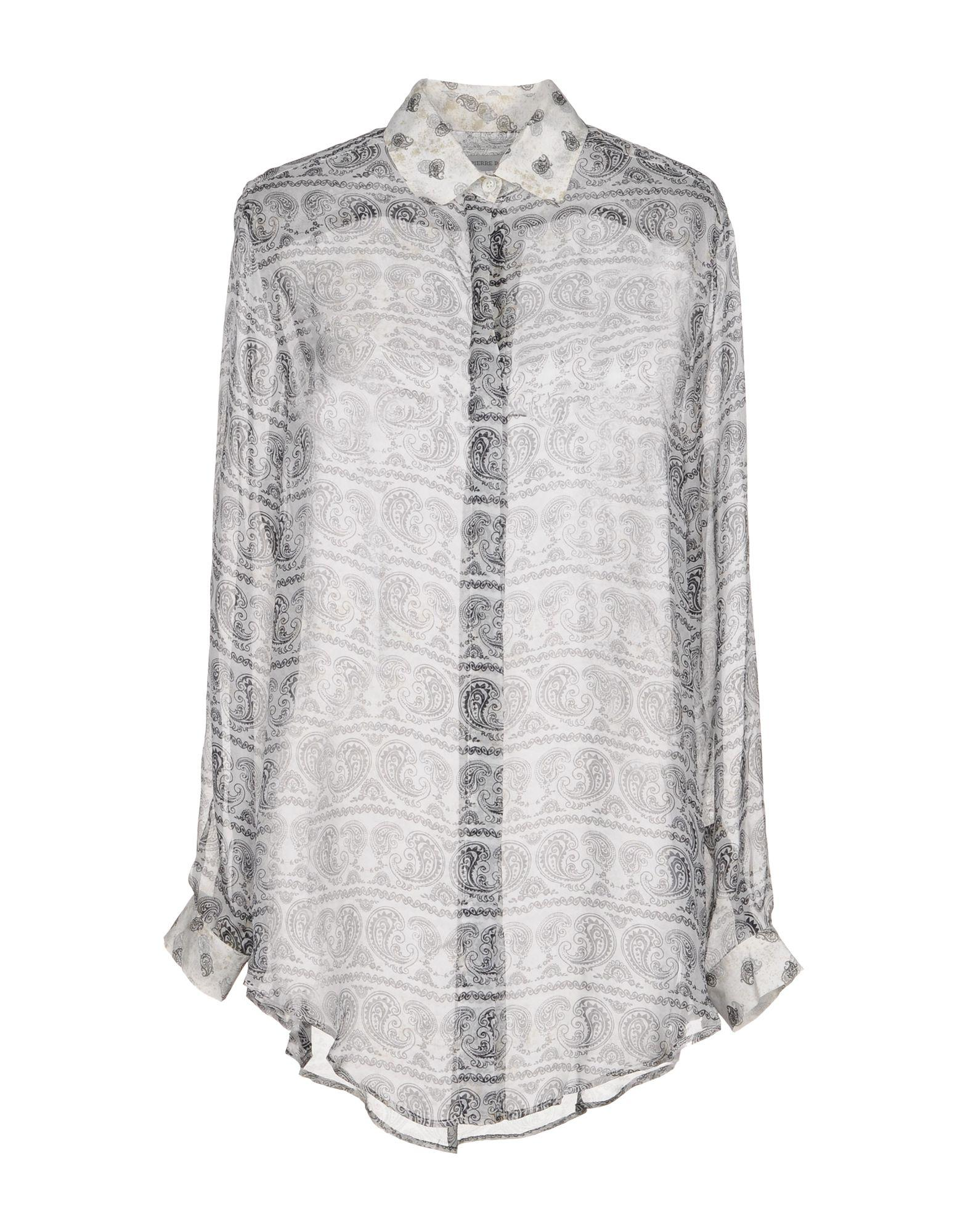 Pierre Balmain Patterned Shirts & Blouses In White