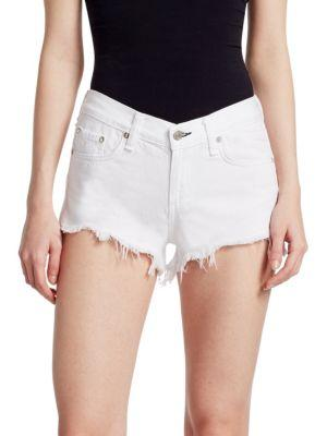 Rag & Bone Cut-off Denim Shorts In White