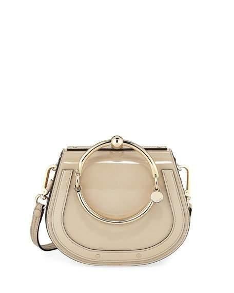 59f2254873cc6 ChloÉ Nile Small Metallic Leather Bracelet Bag
