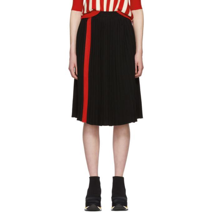 1bb8096694 Marni Black Pleated Stripe Skirt In Inn99 Black | ModeSens