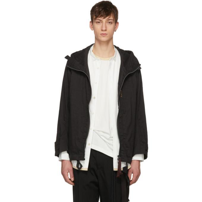 Ziggy Chen Black Big Hood Coat In 04