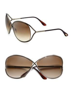 542176d50a7 Tom Ford Miranda Oversized Round Sunglasses In Bronze