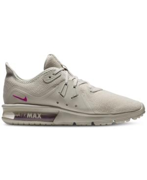 official photos 6f901 8da54 Nike Women s Air Max Sequent 3 Le Running Sneakers From Finish Line In Light  Bone