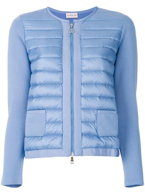 Moncler Jersey Puffer Jacket In Blue