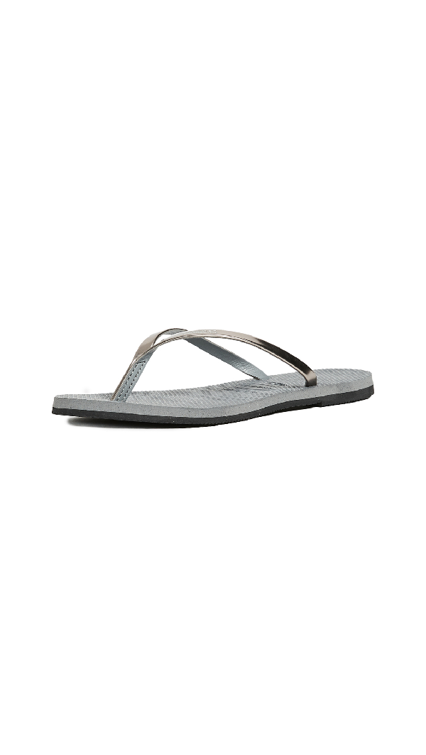 15efd98c4572 Havaianas You Metallic Flip Flops In Steel Grey