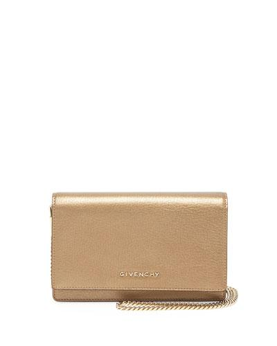 Givenchy Pandora Leather Wallet, Golden
