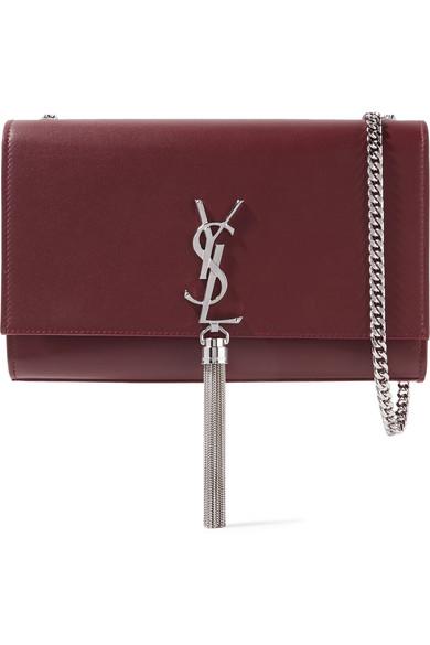 Saint Laurent Monogramme Kate Medium Leather Shoulder Bag In Merlot