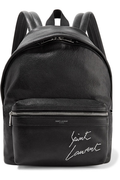 210fc097f Saint Laurent Mini Toy City Embroidered Textured-Leather Backpack In Black