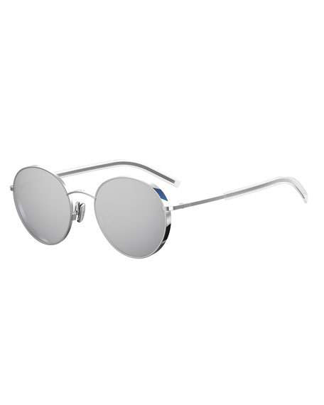 f911d42fca7d8 Dior Edgy Round Metal Sunglasses In Gray Pattern