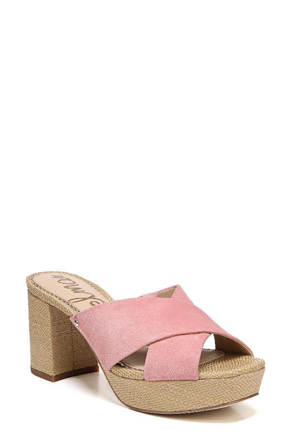 b0a812adb34 A covered block heel and platform elevate a stylish slide sandal with a  hint of retro appeal. Style Name  Sam Edelman Jayne Sandal (Women).
