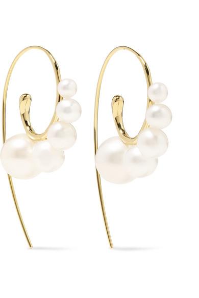 f8c670c793e Ippolita 18K Yellow Gold Nova Graduated Cultured Freshwater Pearl Threader  Earrings