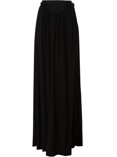 Just Cavalli Ruffled Maxi Skirt In Black