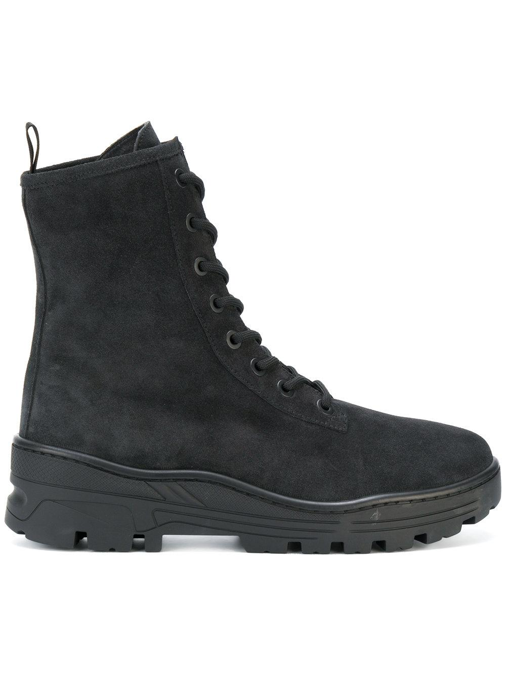 f6e211d45 Yeezy Season 5 Combat Lace-Up Boots In Black