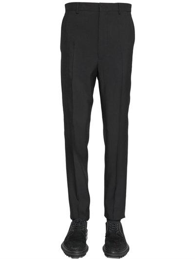 Lanvin 17cm Viscose & Wool Blend Pants In Black