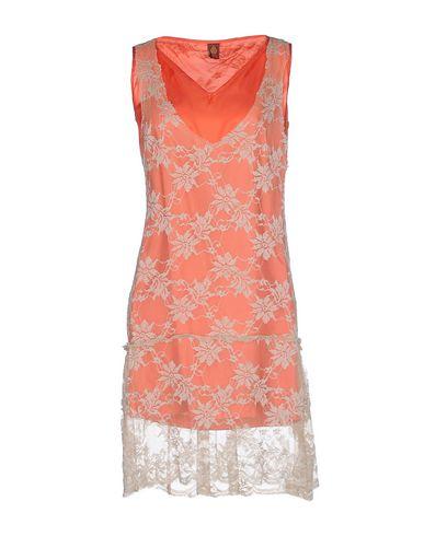 Dondup Short Dresses In Coral