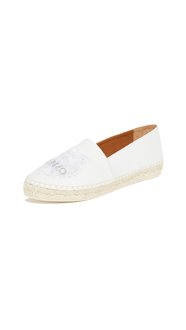 Kenzo Classic Tiger Espadrilles In White