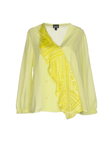 Just Cavalli Solid Color Shirts & Blouses In Acid Green