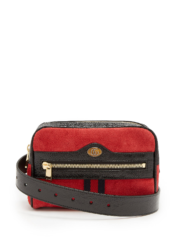 8d9fe9d07b9776 Gucci Ophidia Small Suede Belt Bag - Red | ModeSens