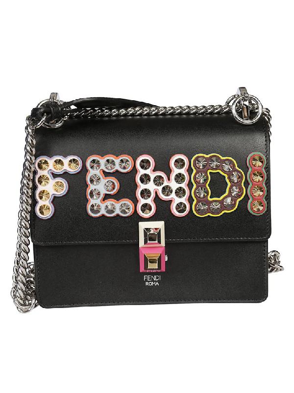 03388ac9347b Fendi Kan I Small Mini Bag In Nero Multicolor