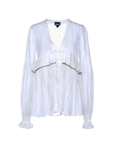 Just Cavalli Solid Color Shirts & Blouses In White