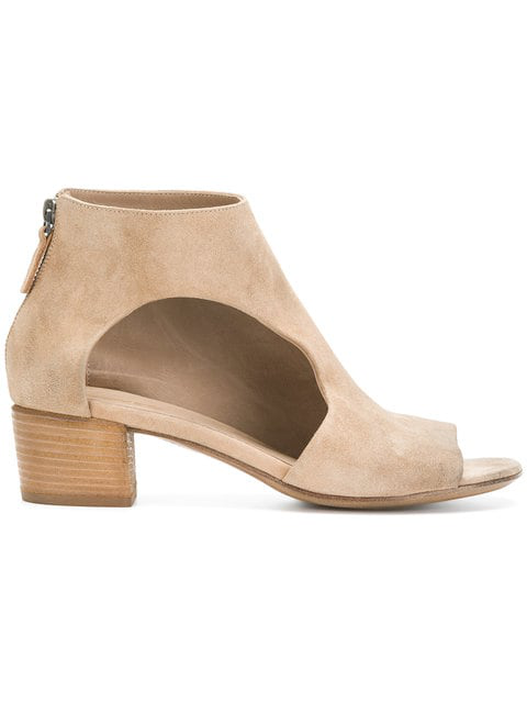 MarsÈLl Peep Toe Cut-Out Ankle Boots In Neutrals