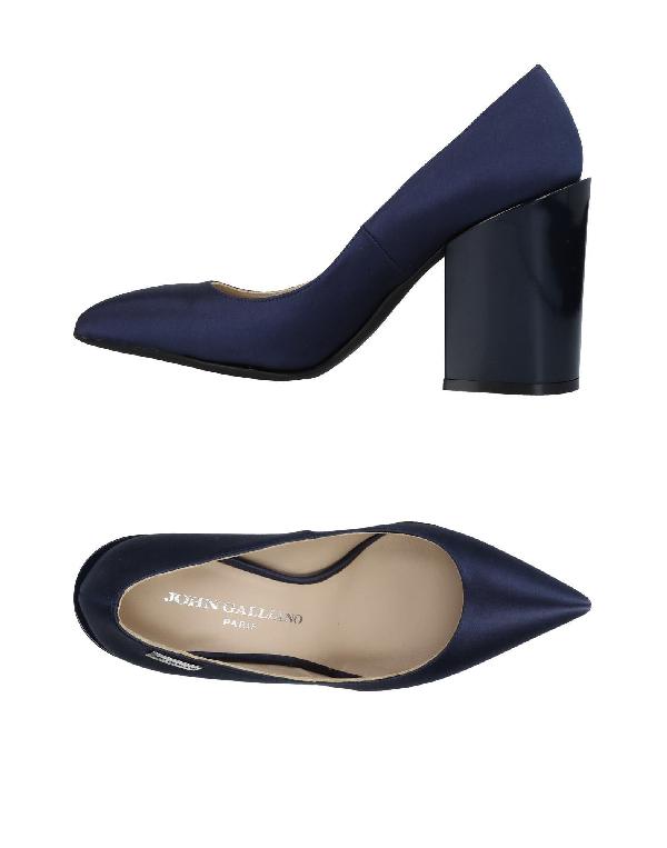 John Galliano Pump In Dark Blue