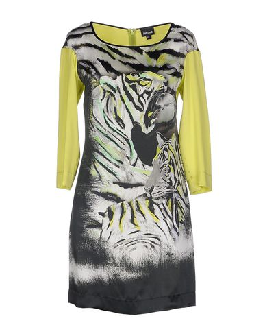 Just Cavalli Short Dress In Acid Green