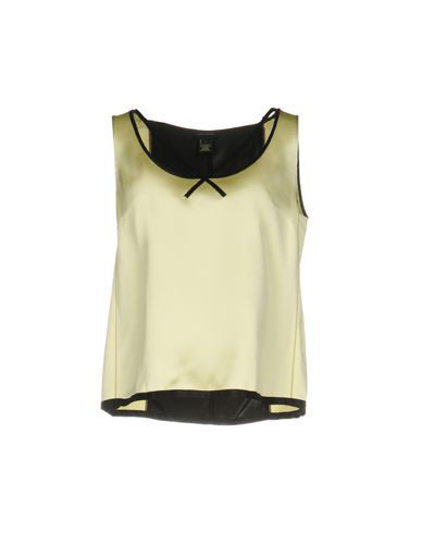 Marc Jacobs Silk Satin Sleeveless V-Neck Top In Pale Yellow