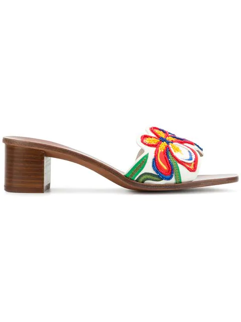 5057e55a2078 Tory Burch Bianca Floral Embellished Slide Sandal In Perfect Ivory Multi