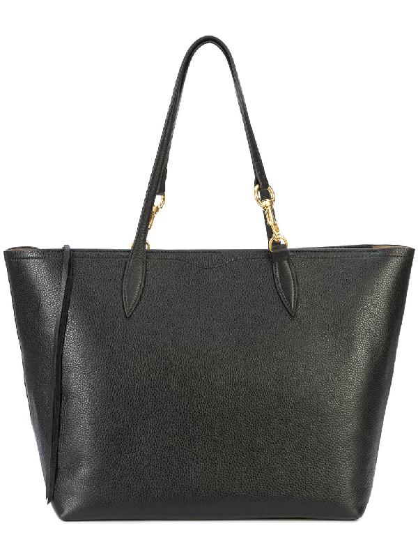 Rebecca Minkoff Sherry Dog Clip Leather Tote - Black