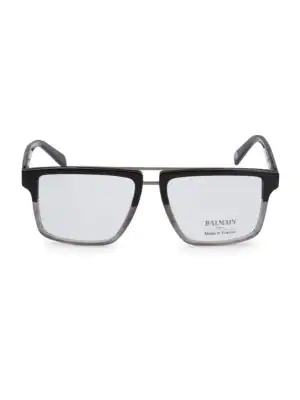 Balmain 59mm Square Two-tone Eyeglasses In Grey Fade