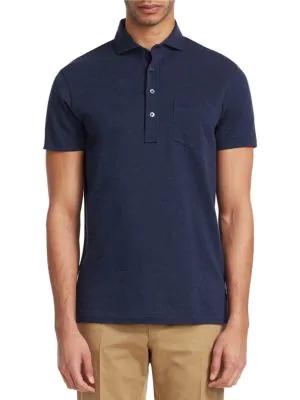 Ralph Lauren Garment Wash PiquÉ Polo In Metro Navy