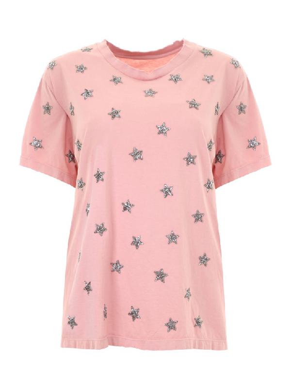 As65 Crystal Stars T-shirt In Nuderosa