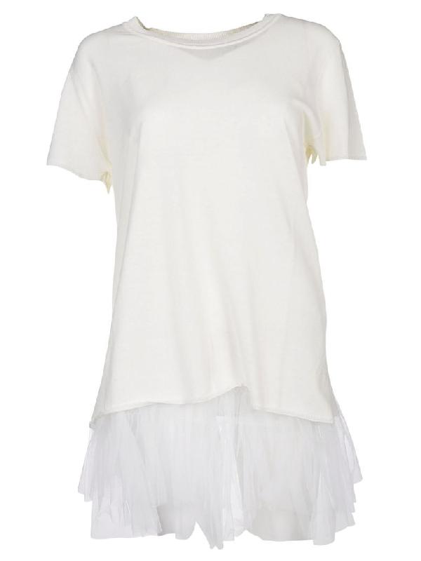 Parosh Fringed T-shirt In Panna
